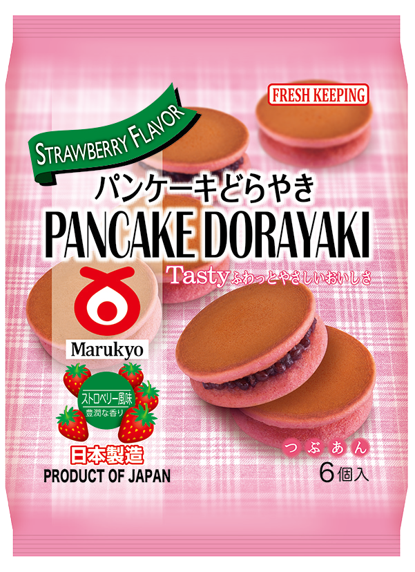 Pancake Dorayaki (Strawberry) 6pcs